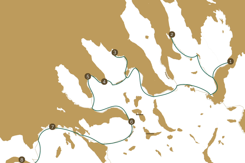 Mapa Senji