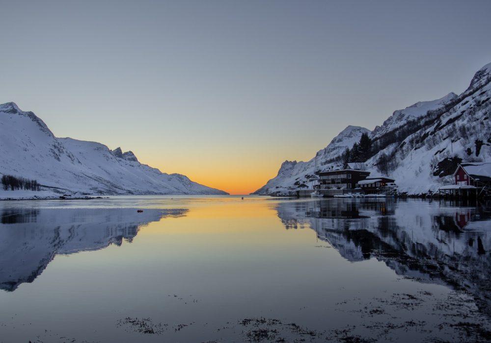 Zachód słońca w Ersfjord